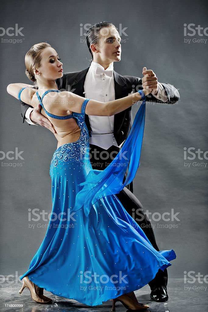 pair of dancers royalty-free stock photo