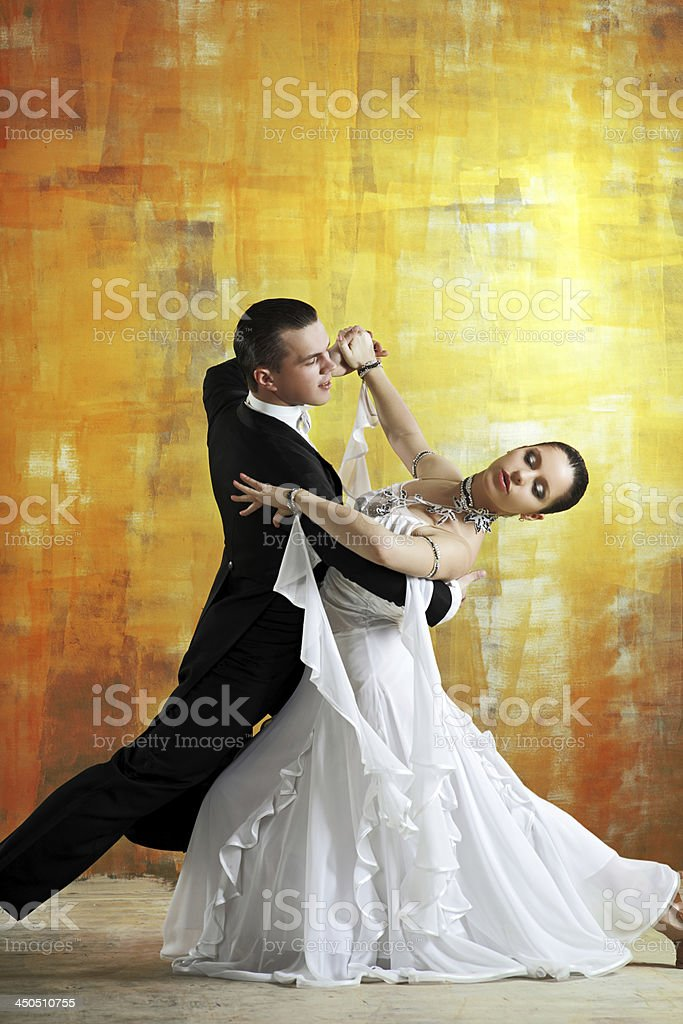 pair of dancers stock photo