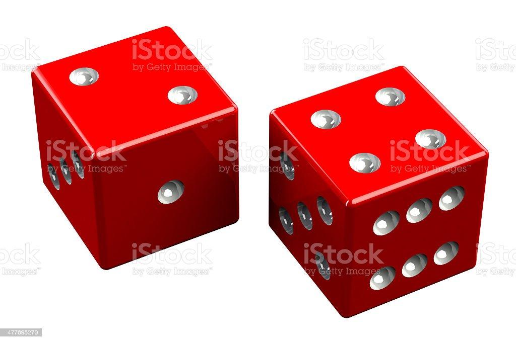 Pair of dice - Easy Six stock photo