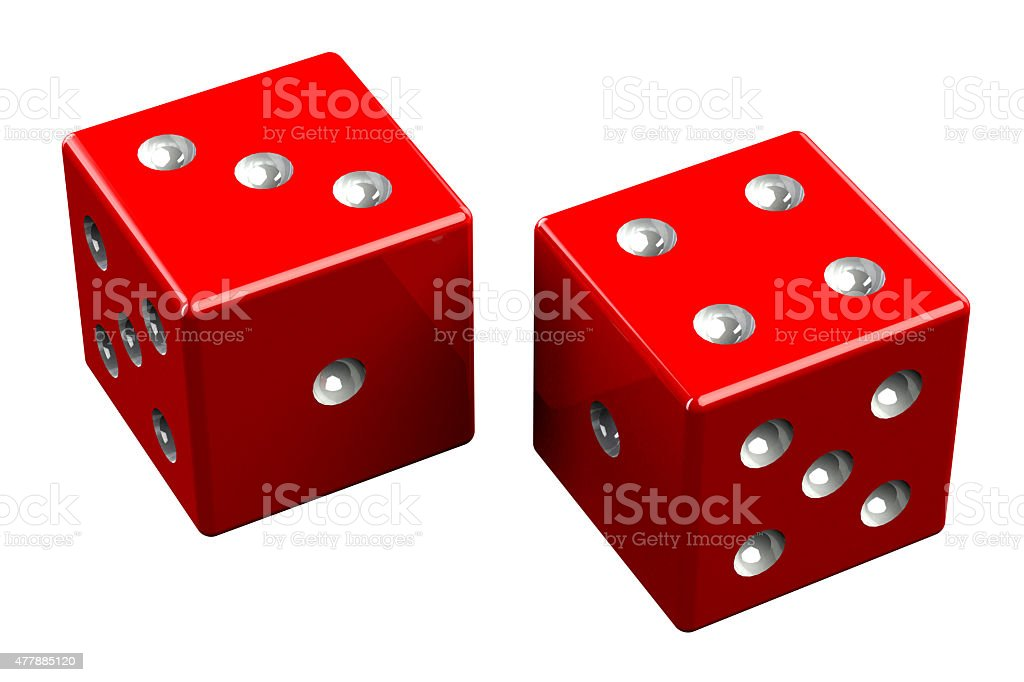 Pair of dice - Seven Out stock photo