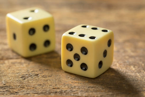 Pair of dices stock photo