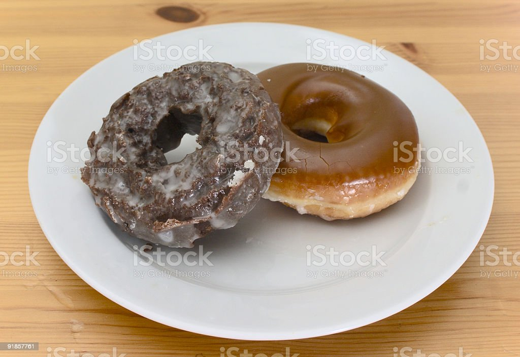 Pair of donuts stock photo