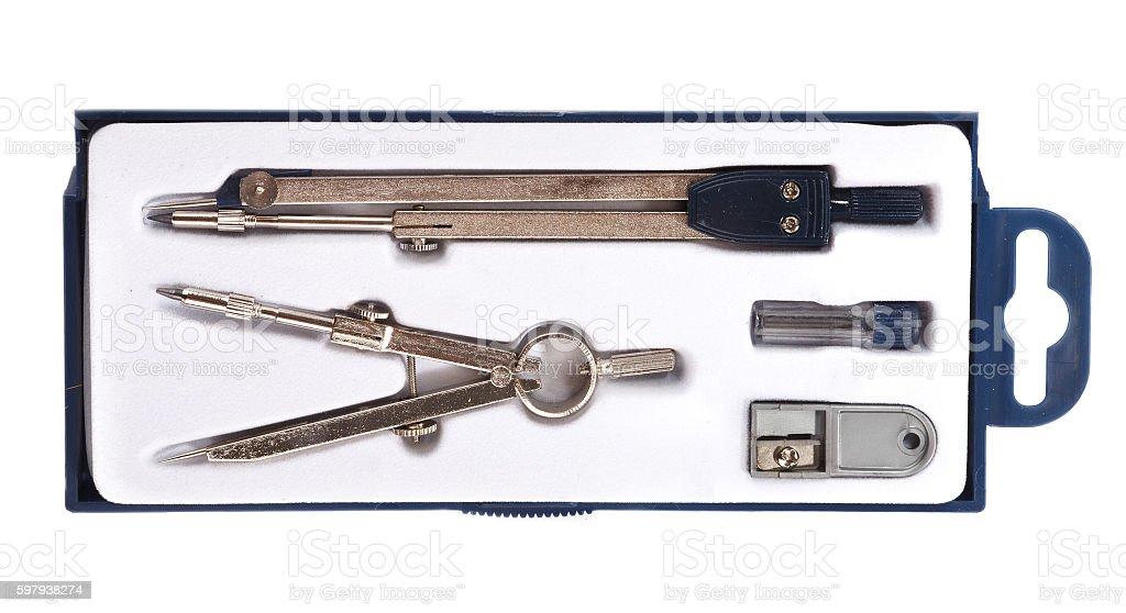 Par de desenho compasses conjunto foto royalty-free