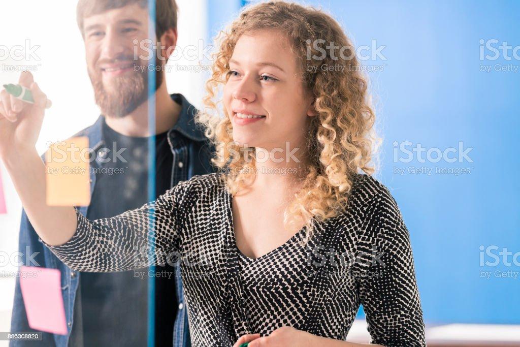 Pair of entrepreneurs stock photo
