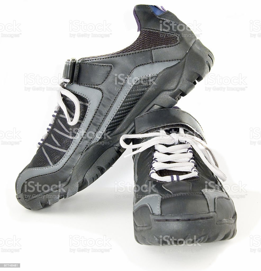 Pair of spinning shoes royalty-free stock photo