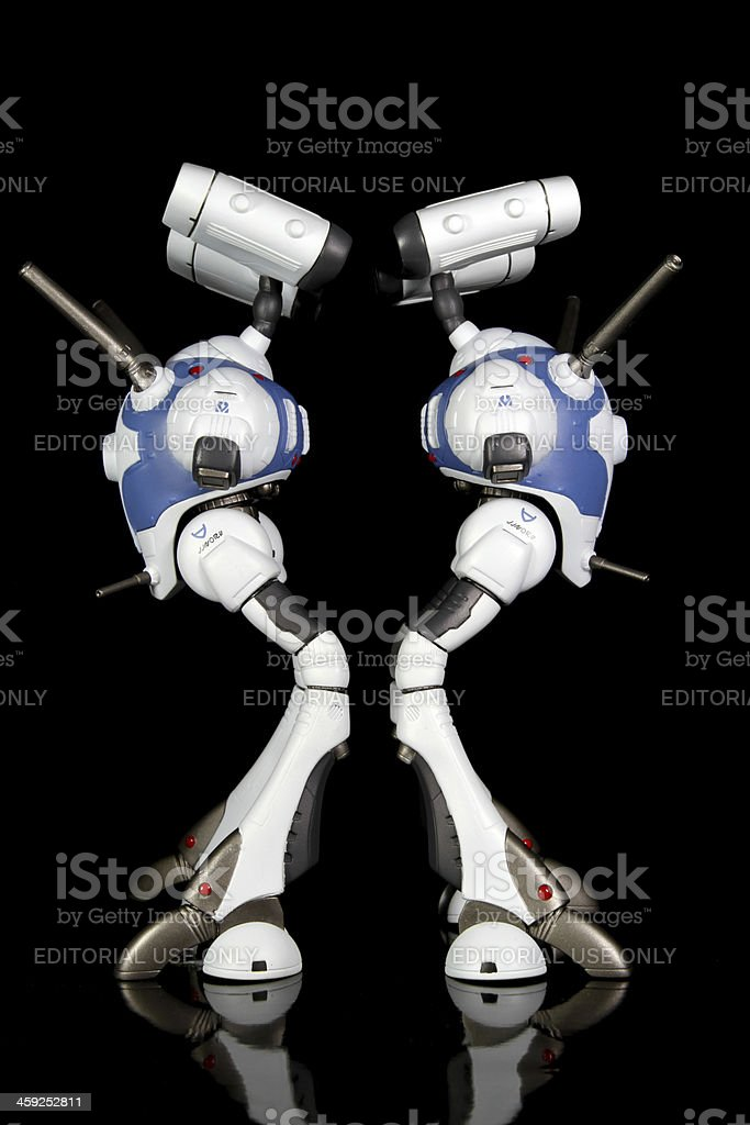Pair of Fighting Machines royalty-free stock photo