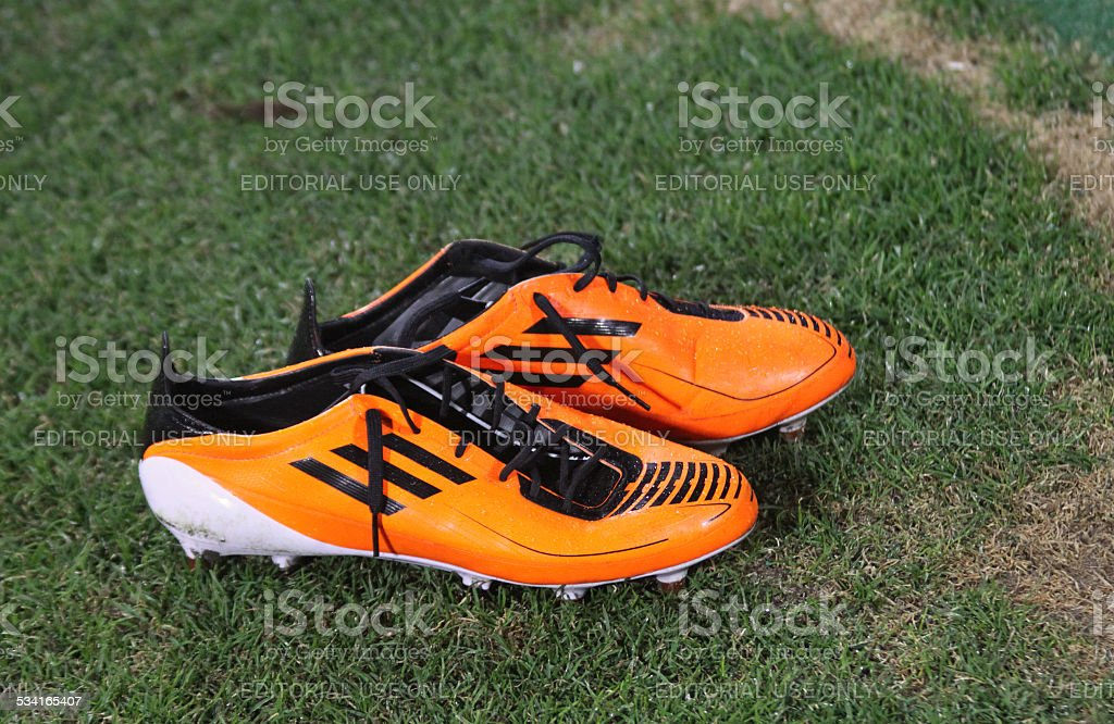Pair of football boots stock photo