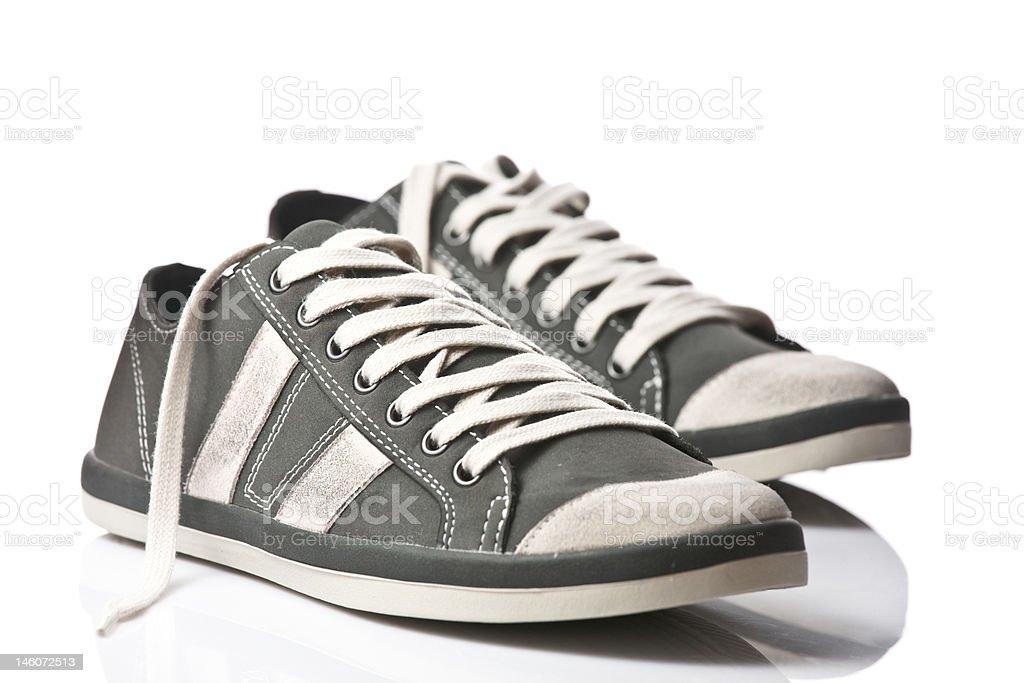 Pair of generic sneakers stock photo