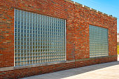 Pair of glass-block windows