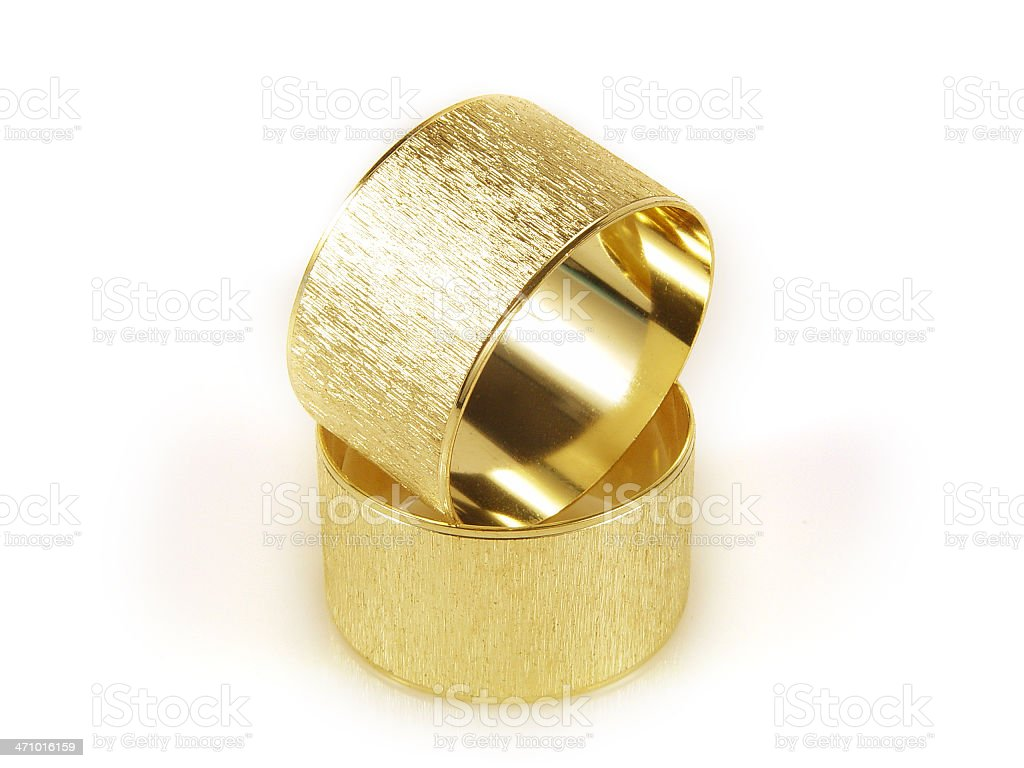 Pair of gold rings royalty-free stock photo