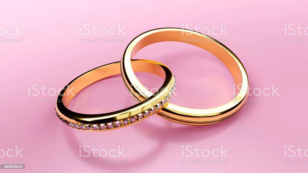 Paar Goldene Hochzeit Ringe Die Ehe Und Fur Immer Zu Symbolisieren