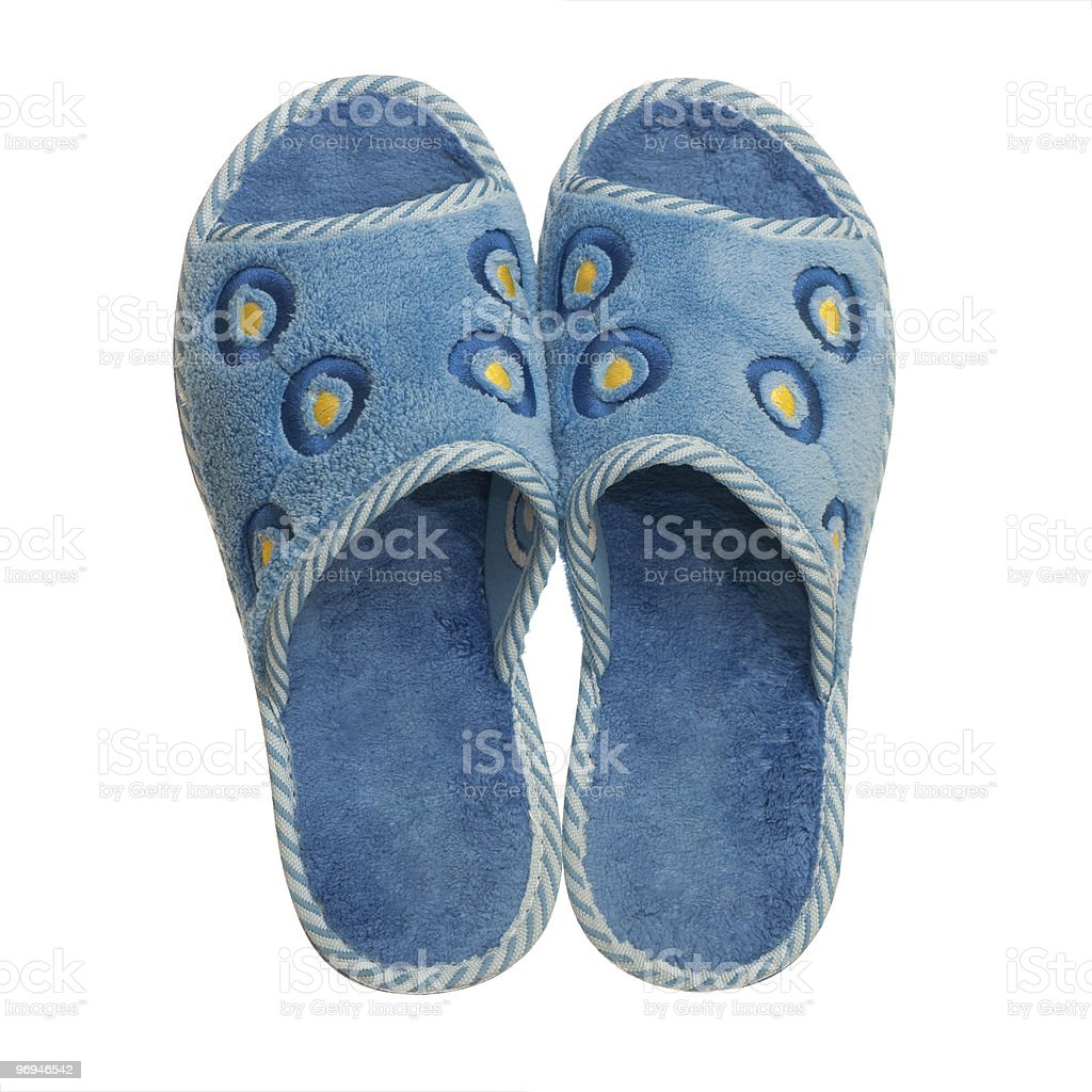 Pair of home slippers royalty-free stock photo