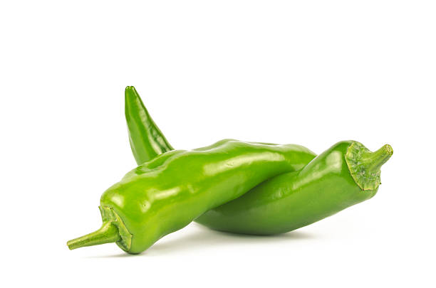Pair of Jalapenos (Green Chilies) stock photo