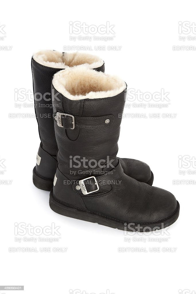 Pair of Kensington Ugg Boots royalty-free stock photo