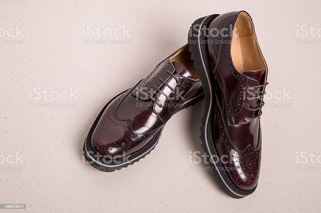 pair of man brogues shoes stock photo