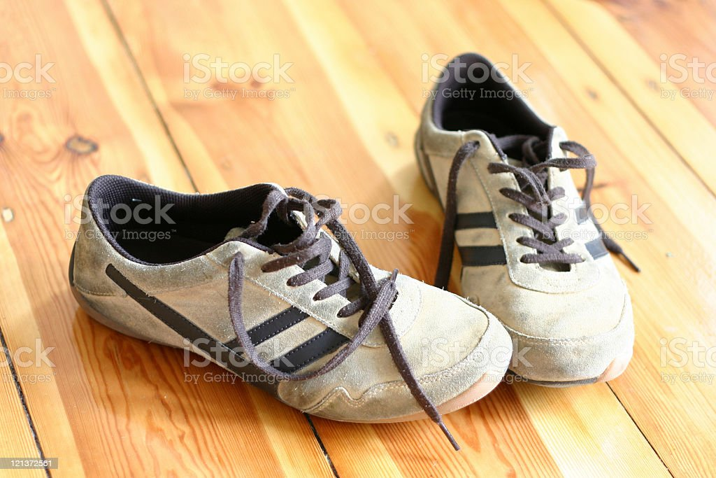 Pair of Old Shoes royalty-free stock photo
