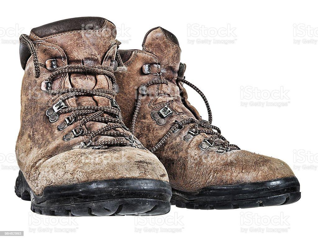 Vecchio paio di scarpe foto stock royalty-free