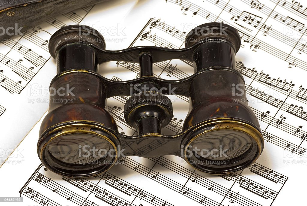 Pair of opera glasses royalty-free stock photo