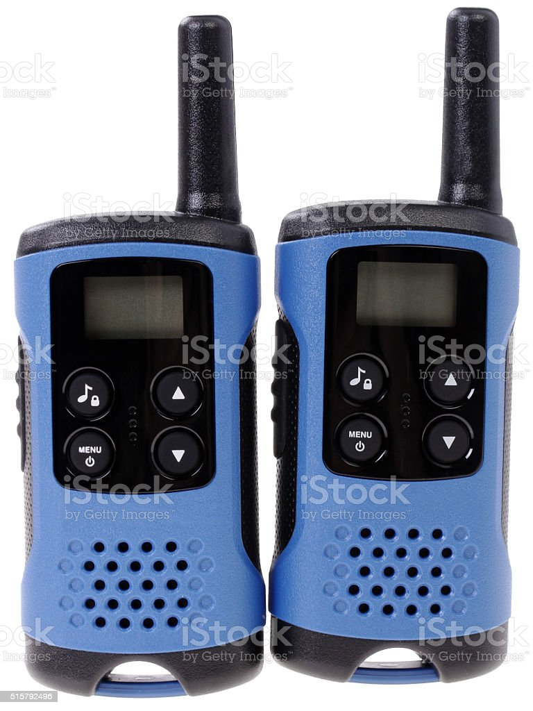 Paar Tragbares Radio setzt auf weißem Hintergrund – Foto