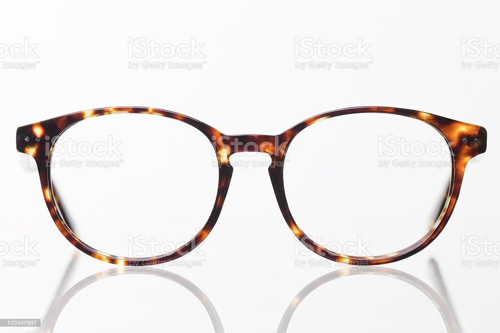Pair of reading glasses stock photo