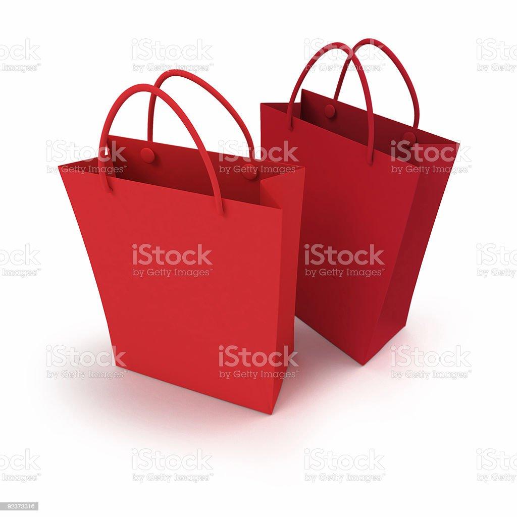 Paar rote Einkaufstasche Lizenzfreies stock-foto