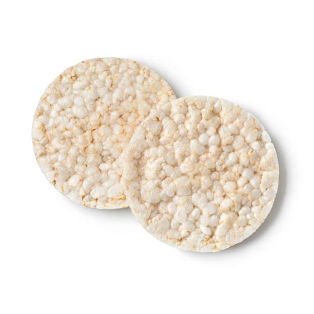 Pair of rice crackers stock photo