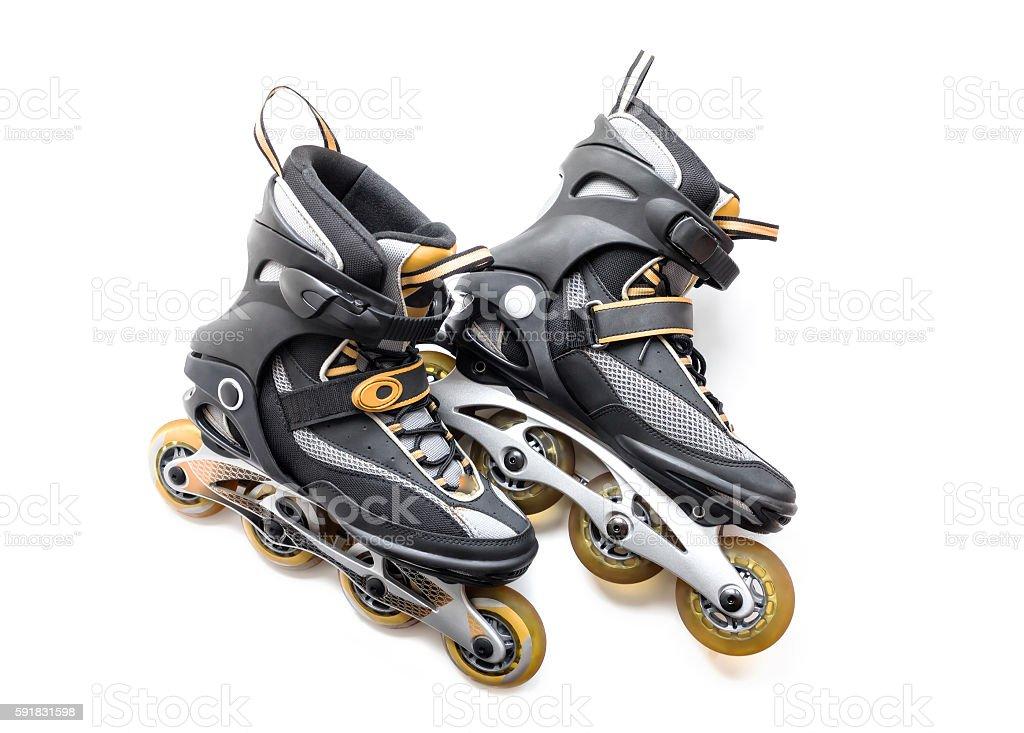 Pair of roller-skates stock photo
