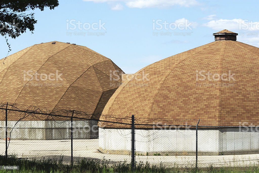 Pair of Salt Domes royalty-free stock photo