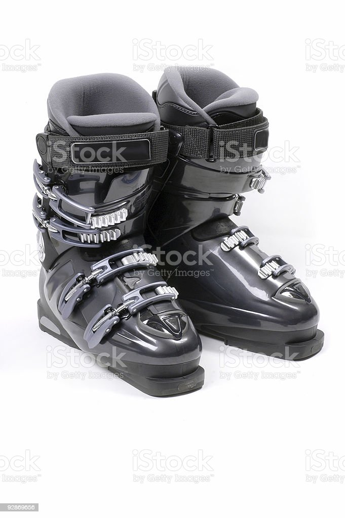 Pair of Ski boots stock photo