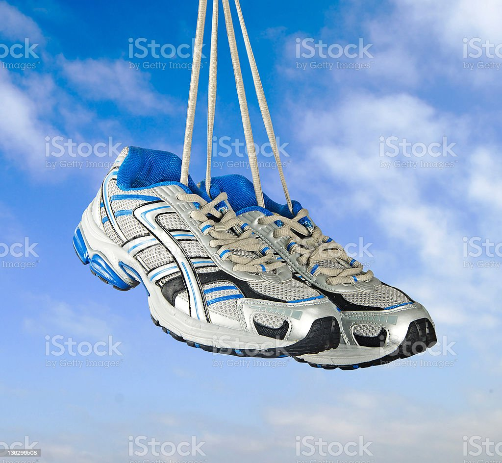 Pair of sneakers stock photo