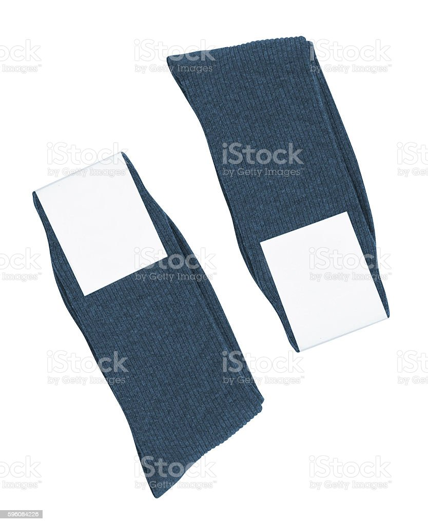 Pair of socks. Isolated on a white royalty-free stock photo