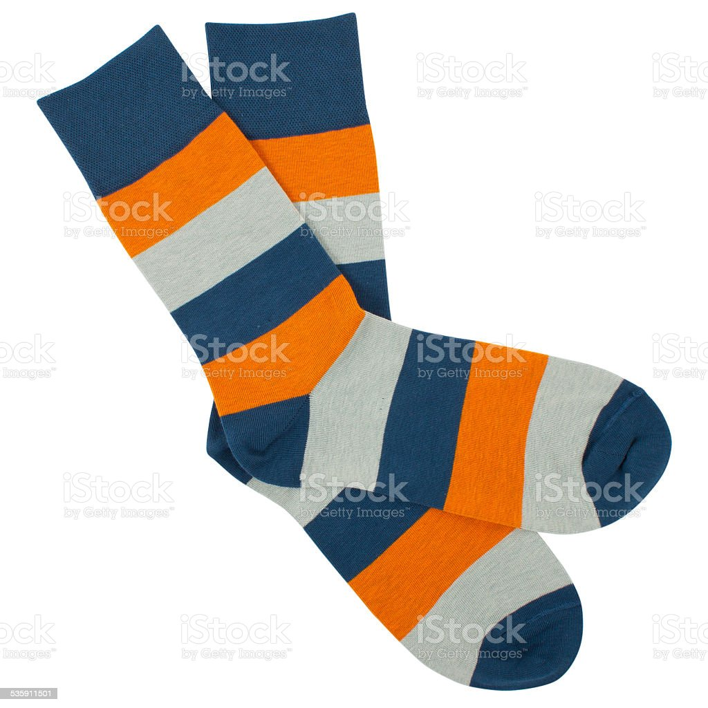 Pair of socks. Isolated on white background stock photo