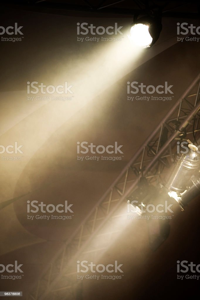 Pair of Stage Lights royalty-free stock photo