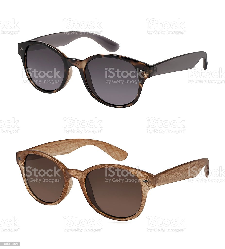Pair of sunglasses in different colors royalty-free stock photo