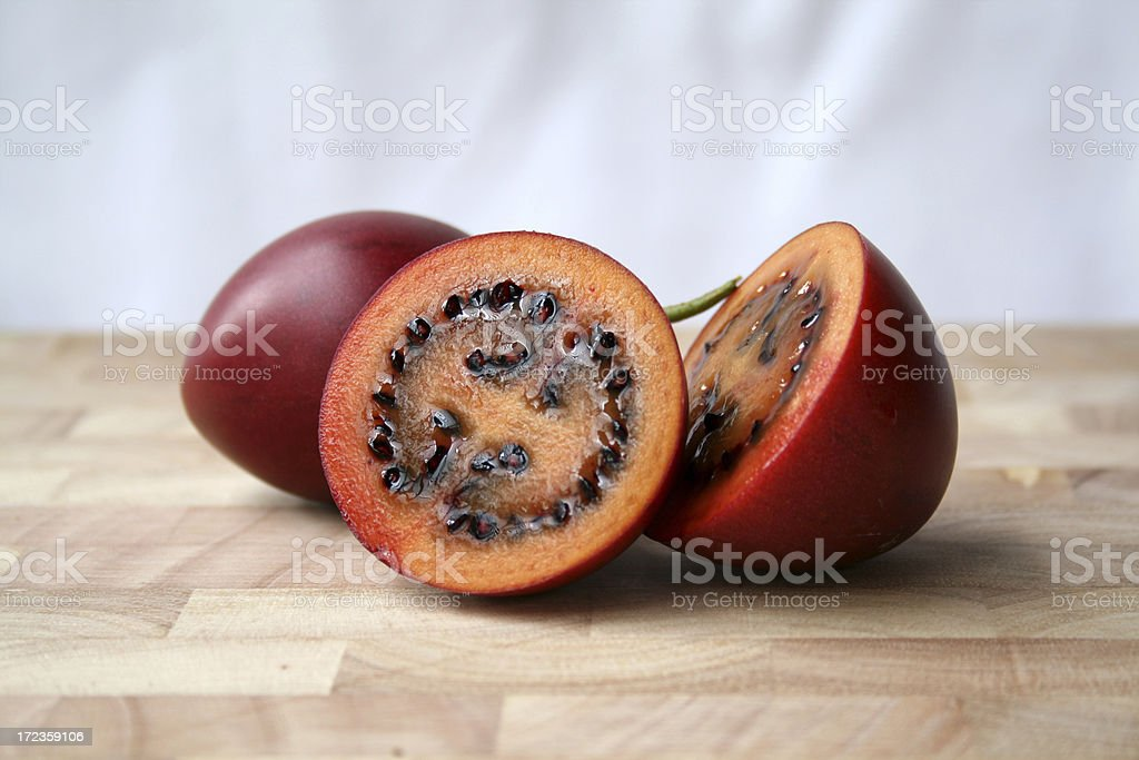 Pair of Tamarillo fruit royalty-free stock photo