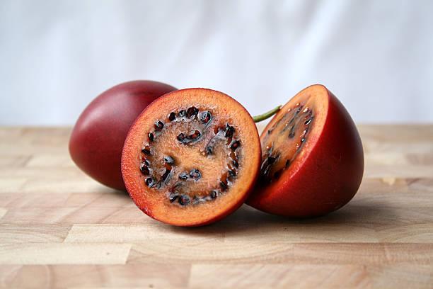 Pair of Tamarillo fruit