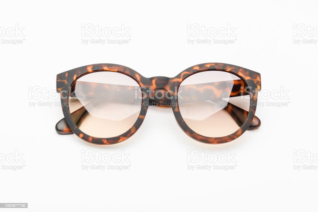 dadb6ddb66c A pair of tortoises shell style fashion glasses isolated on white background.  - Stock image .