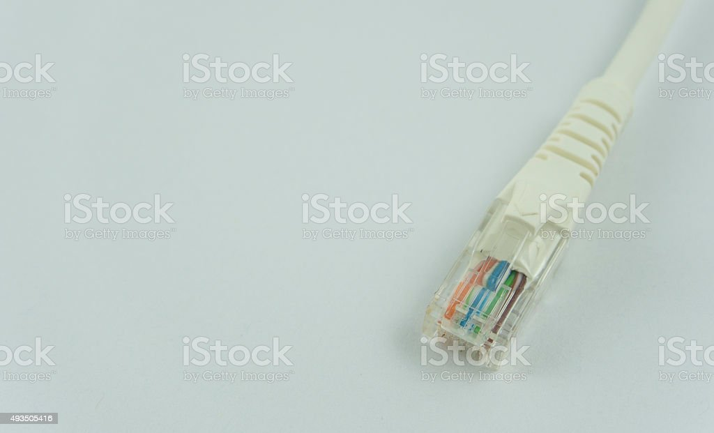Pair of twisted Ethernet LAN network cable stock photo