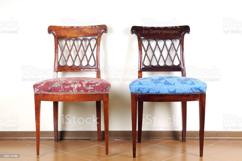 Pair of Vintage Chairs royalty-free stock photo