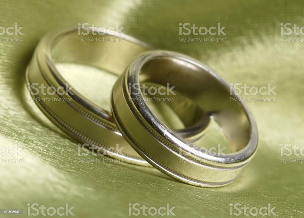 Pair of wedding rings royalty-free stock photo