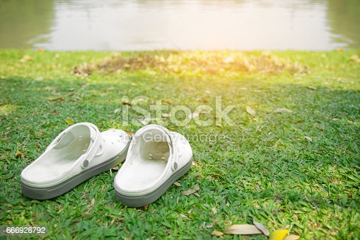 istock pair of white shoes 666926792