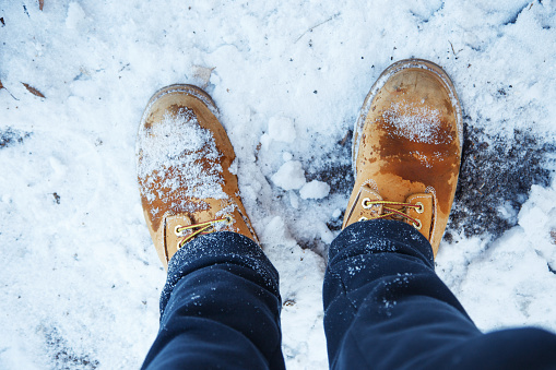 Pair of winter shoes