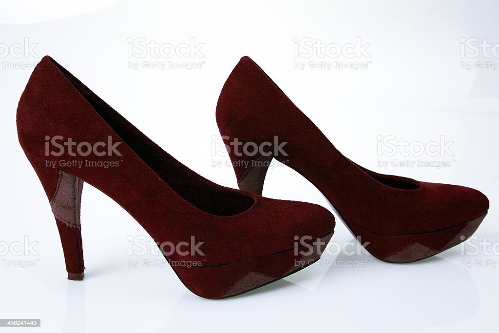 Pair Of Womens Burgundy High Heel Shoes Stock Photo More Pictures
