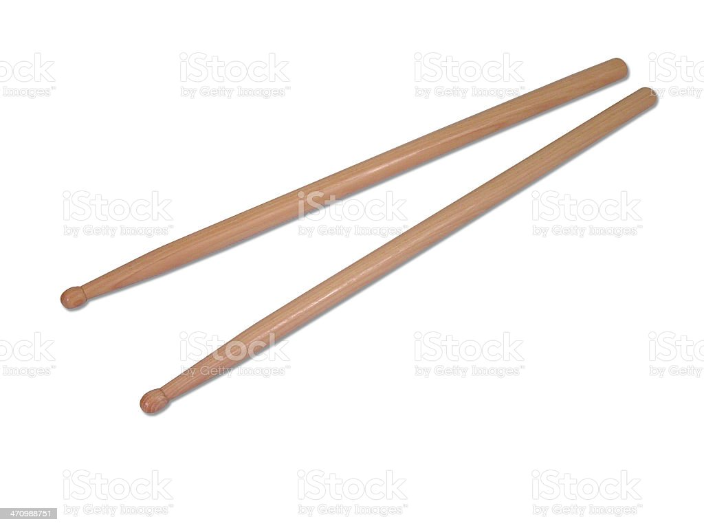 Pair of Wooden Drumsticks royalty-free stock photo