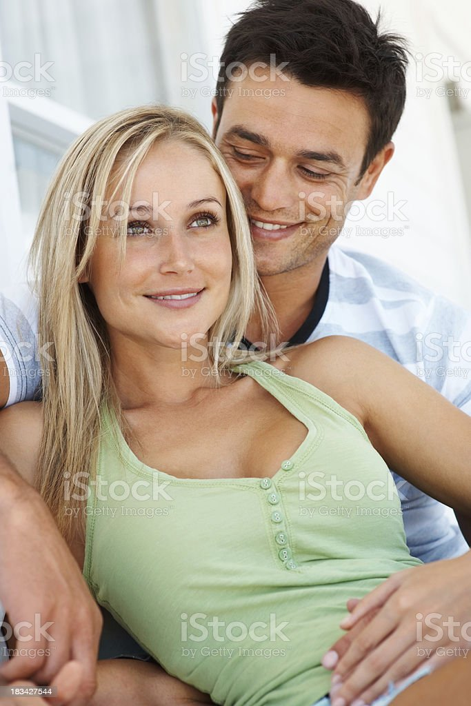 Pair of young couple stock photo