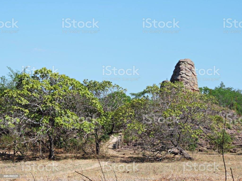 Paisagem do municipio  Torres em Santa Cruz, Piaui, Brasil. stock photo