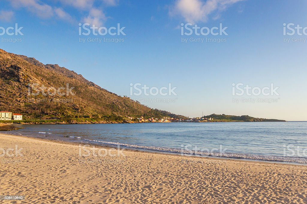Paisaje de la playa de Ezaro royalty-free stock photo