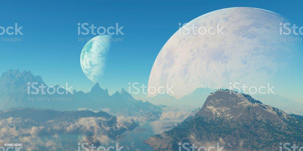 Paisaje de otro planeta stock photo