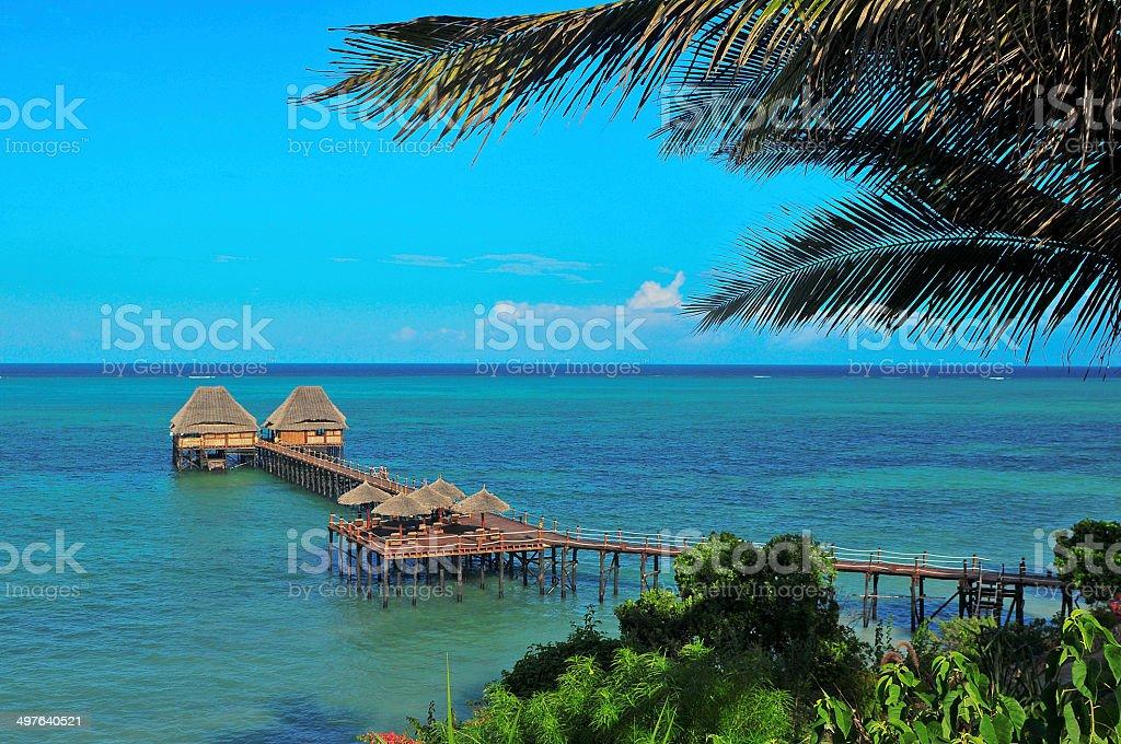 paisaje tropical stock photo