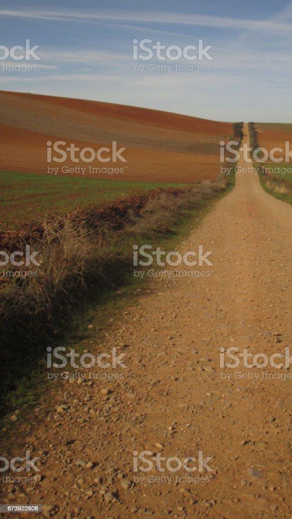 Paisajes del Camino de Santiago. Camino Francés. España. Paysages du Camino de Santiago. Français moyen. Espagne. photo libre de droits